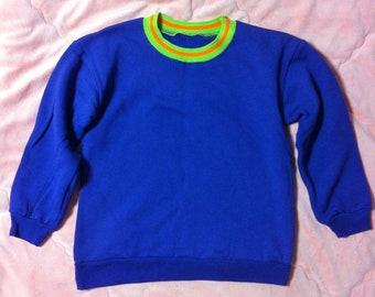 90s Vintage Purple Sweater, 90s Vintage Sweater, Purple Ringer Sweatshirt, Vintage Ringer Shirt, Purple Sweater, Purple Sweatshirt