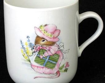 Vintage Konitz Mugs Lady Mouse Set of 2