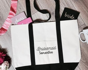 Bridesmaid Samantha Boat Tote Bag | Bridesmaid Tote Bag | Bridesmaid Totes | Bridesmaid Tote Bags | Bridesmaid Accessory | Bridal Party Tote