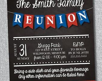 Family Reunion Invitation-Digital File-Custom Colors