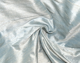 Silk Dupioni in Pale  Eton Blue -  Extra Wide half yard - DEX  222