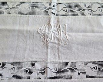 Linensheet - French Linen Bedclothes - Drap de Lin Monogram -