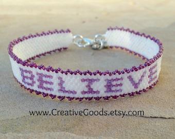 Believe - Bracelet Pattern - Peyote Pattern