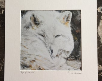 Wolf Fine Art Giclee Print, white wolf art, white and black art, Wolves, White Wolf, wild animal art, wildlife art, man cave art, guy gifts