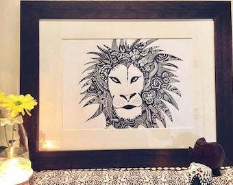 King of the Jungle Illustration