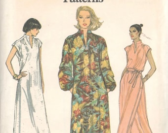 Vogue 7036 1970s Misses Pullover Dress Tunic and Pants Pattern Very Easy Womens Vintage Sewing Pattern Size 14 Bust 36 or Size 8 Or 18