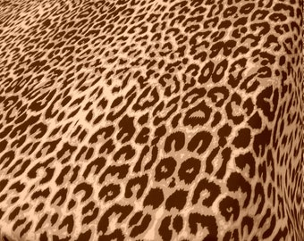 Leopard Design Satin Print Fabric sold by yard