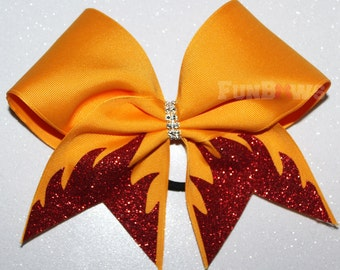 FLAMES Glitter cheerleading Allstar bow  by Funbows