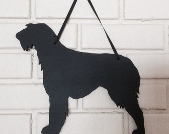 Irish Wolfhound Handmade Chalkboard  Wall Hanging - Blackboard Silhouette - Shadow - Country Decoration - Dog