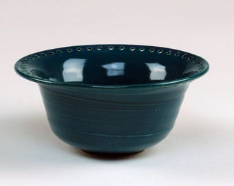 Teal Jewelry Bowl - Earring Tree - Jewelry Organizer - Storage Solution - Home Decor - Ceramic Pottery - Handmade Wheelthrown - Gift for Her