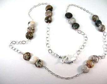 Ocean Jasper Coins Necklace