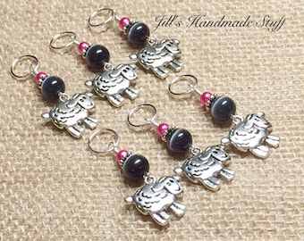 Sheep Stitch Marker Set- Snag Free Knitting Markers- Gift for Knitters