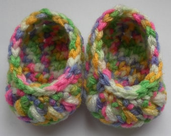 "18 inch dolls shoes. 18"" doll shoes, Crochet multi-coloured shoes. Doll shoes. Doll footwear. (Will fit American girl doll)."