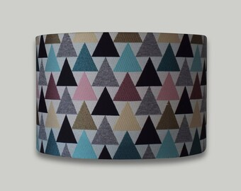 Triangle Print Drum Lampshade Lightshade 20cm 25cm 30cm 35cm 40cm sizes available