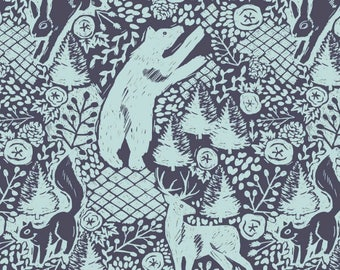 Woodland Baby Bedding - Bear Crib Sheet /Fitted Crib Sheet /Bear Nursery /Changing Pad Covers /Mini Crib Sheets /Bloom Alma Mini Crib Sheet