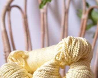 Soft yellow macrame cotton rope, macrame rope, cotton cord 5 mm, macrame cord, 5mm cotton twisted rope, cotton rope macrame, diy rope