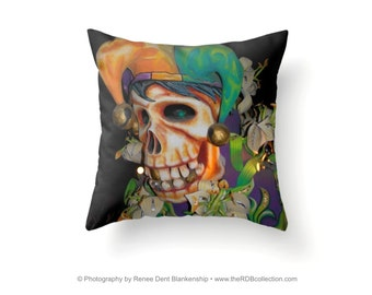 Skull Jester Pillow
