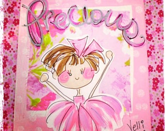 Just Precious Little Girl Nursery Collage Made To Order for Hair Color YelliKelli