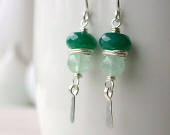 Forrest Nymph Earrings. Drop Earrings.  Earrings. Green Earrings. Dangle. Artisan. Jewelry.