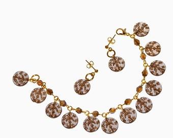 Celestial Bodies Charm Bracelet and Earrings Set