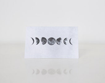 Moon Phases Notecard