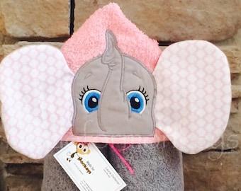 Elephant Hooded Towel 3D