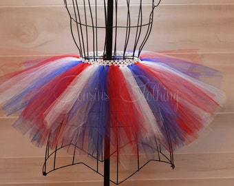 Red White Blue Tutu -Running Tutu - Race Tutu - Adult Tutu-Marathon Tutu-5K Tutu-FunRunTutu-4th of July tutu- superhero tutu- Fourth of July