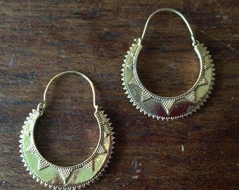 Ibiza Style Brass Earrings