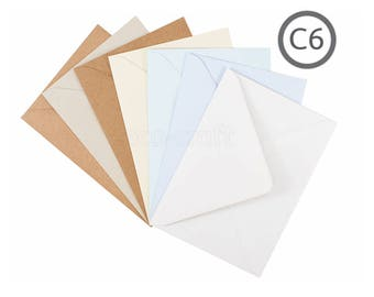 C6 Recycled Envelope Natural 10Pk