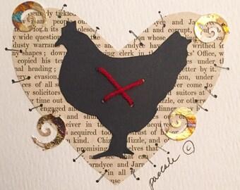 Words Heart & Chicken
