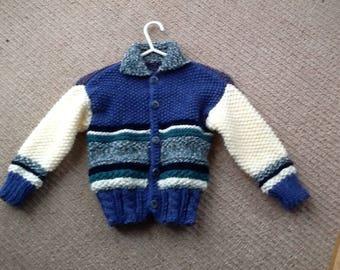 Handmade chunky jacket for 2-4 yr olds