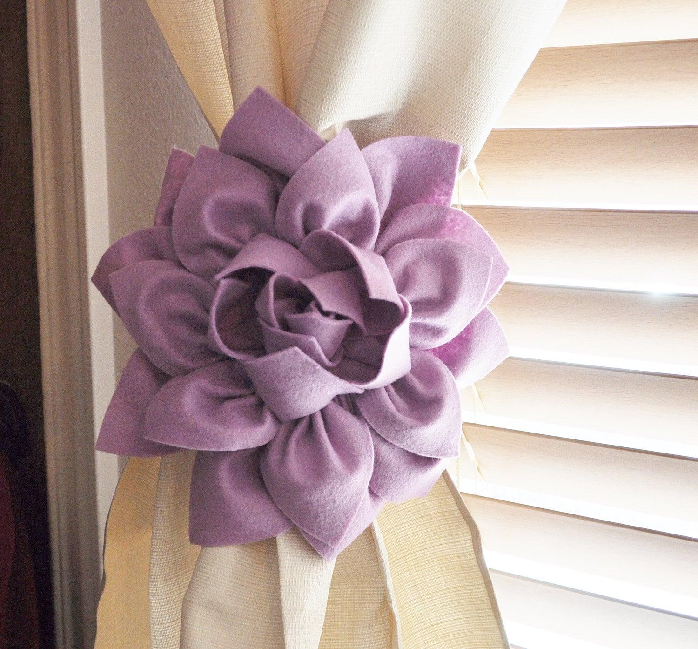 ONE Dahlia Flower Curtain Tie Backs Curtain Tiebacks Curtain