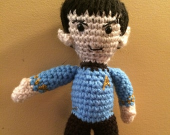 Made to Order Spock Star Trek ToS inspired Amigurumi Doll