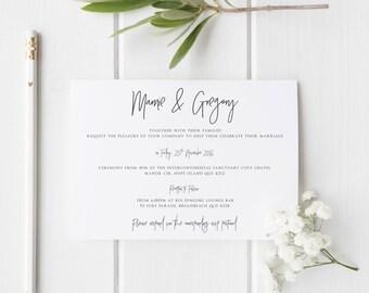 Wedding Invitation - Printable Minimal Design