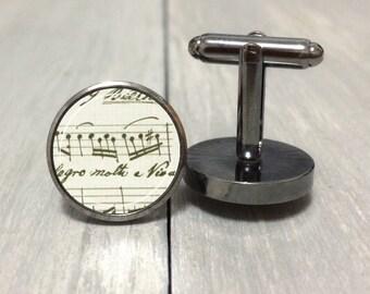 Beethoven Sheet Music Cufflinks