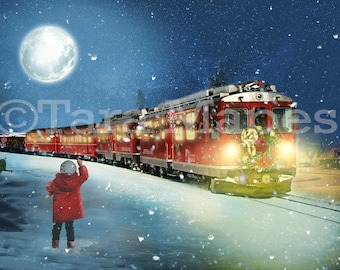 Polar Express Digital Background
