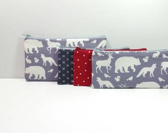 Kids Cash Envelope Wallet, Kids Cash Budget System, Give Save Spend, READY TO SHIP -In The Woods Animals