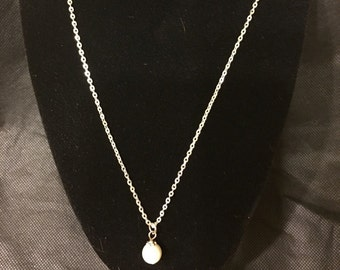 Pearl Necklace with 18in Silver Chain