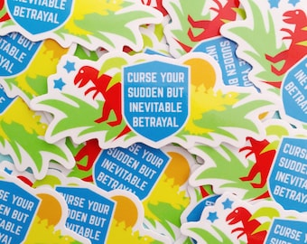 Curse Your Sudden But Inevitable Betrayal Vinyl Sticker - Firefly Sticker - Serenity Sticker - Geek Sticker