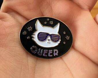 Queer Cat Pin