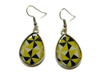 YELLOW TEARDROP EARRINGS - drop earrings - bright yellow earrings - Boho Earring - Ethnic Earrings - yellow jewelry