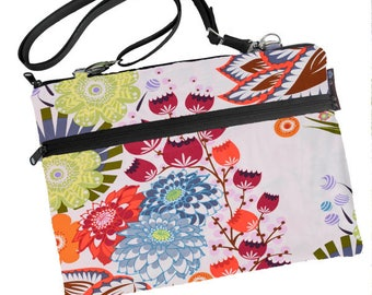 """12 inch MacBook Sleeve bag, Macbook 12"""" Case, Shoulder Bag Zipper Padded /FAST SHIPPING/Washable/ Bella Blossoms Fabric RTS"""