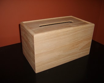 Unfinished Wood Tissue Box Cover-Kleenex 210 count 2-ply box-unfinished wood box-engravable wood box-personalized laser engraving
