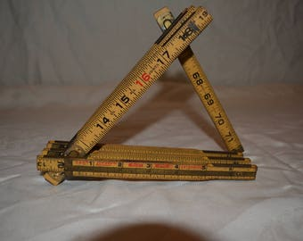 1960s Working Lufkin Red End Extension Ruler