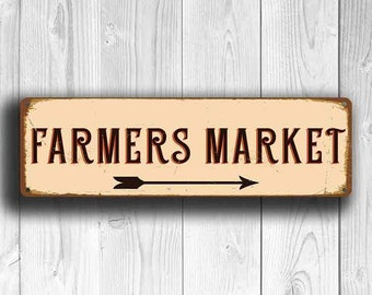 FARMERS MARKET SIGN, Farmers Market Signs, Vintage style Farmers Market Sign,  Farmers Market, Outdoor Farmers Market Sign, Farmers Markets