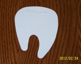 6 TOOTH DIE CUTS dental health dentist baby first tooth first lost tooth scrapbook