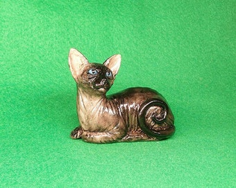 Sphynx Cat Figurine Sphynx cat sculpture