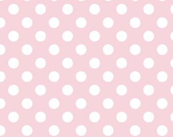 Medium White Dots on Baby Pink by Riley Blake - C360-75 BABY PINK