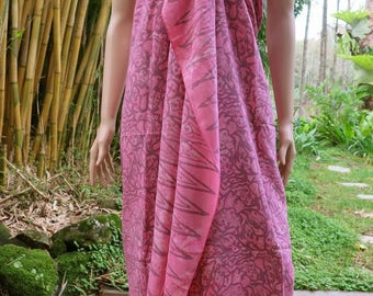 Pink cover up, Beach Sarong, Pareo, Wrap