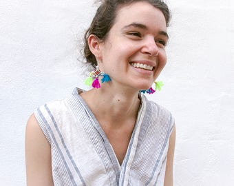 Akha Yalupubay Earrings, Laos